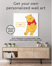 Any Day Spent With You Is My Favorite Day Canvas Wall Art - Image 1