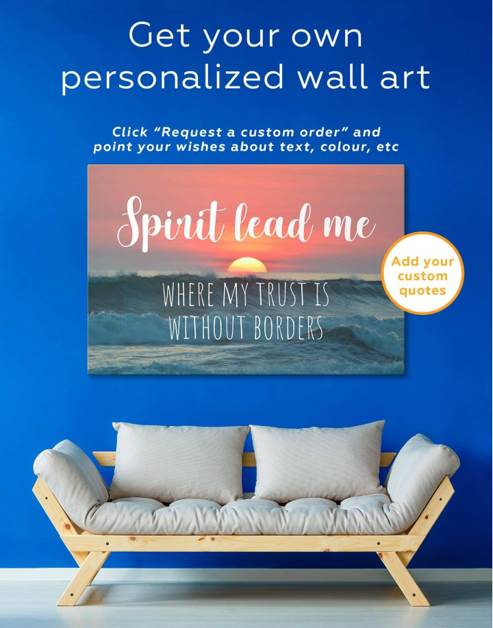 Ocean Spirit Lead Me Where My Trust Is Without Borders Canvas Wall Art - Image 1