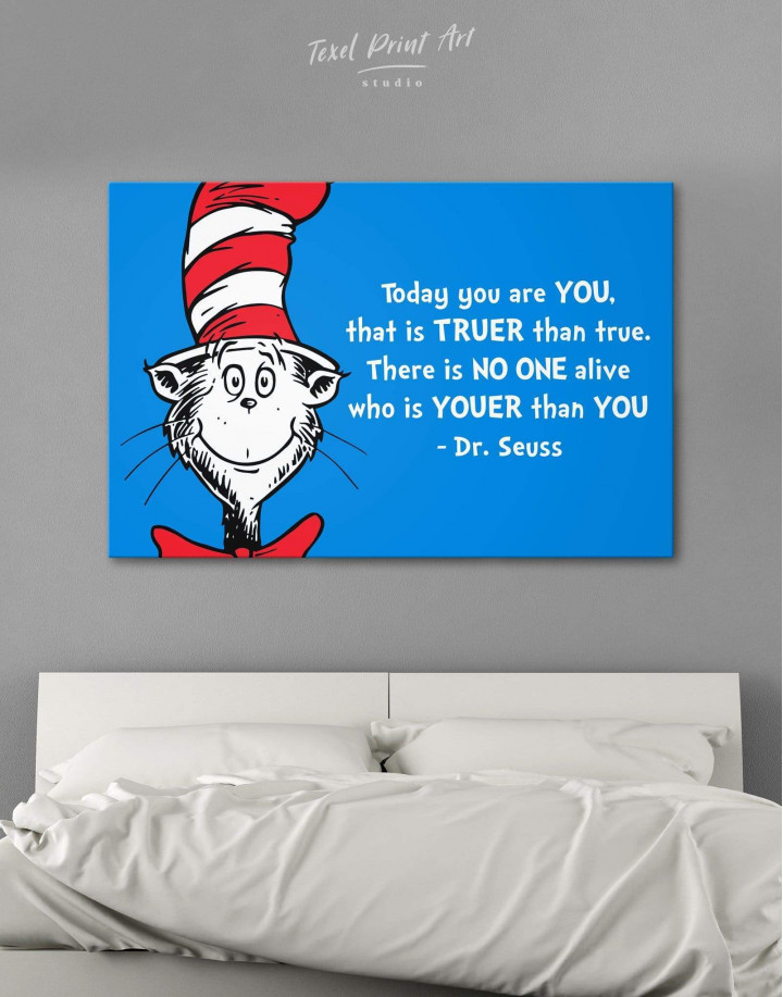 Dr.Seuss Quote Canvas Wall Art - Image 0