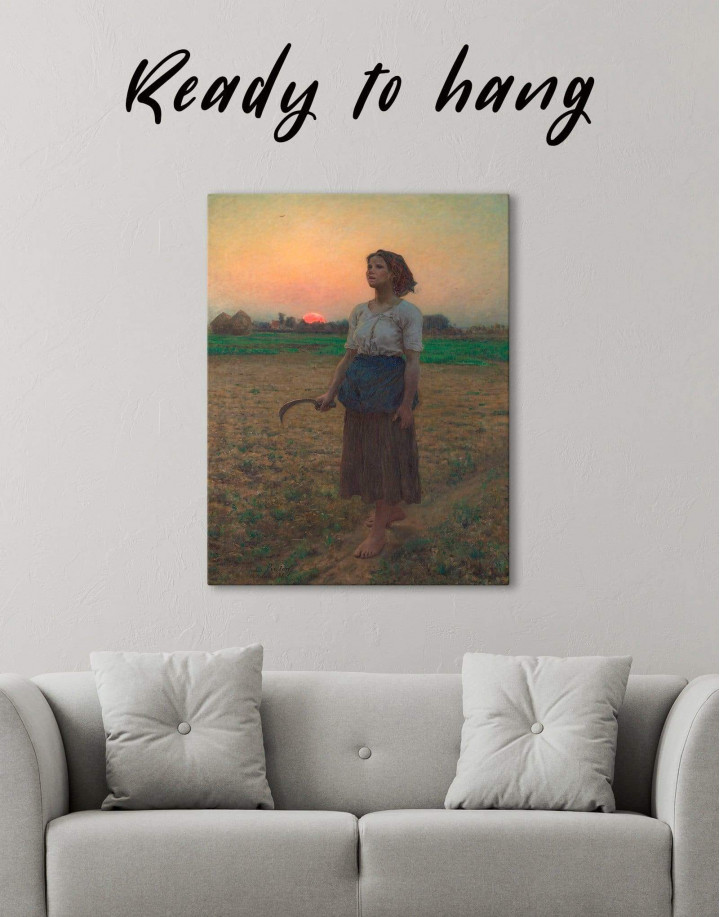 The Song Of The Lark by Jules Breton Canvas Wall Art - Image 0