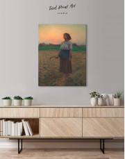 The Song Of The Lark by Jules Breton Canvas Wall Art - Image 2