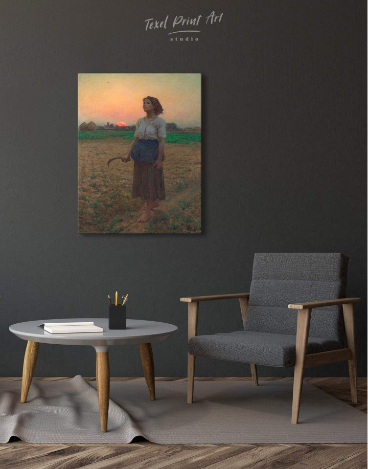 The Song Of The Lark by Jules Breton Canvas Wall Art - Image 1