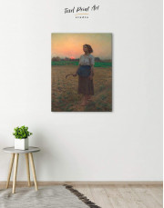 The Song Of The Lark by Jules Breton Canvas Wall Art - Image 4