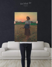 The Song Of The Lark by Jules Breton Canvas Wall Art - Image 3