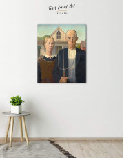 American Gothic by Grant Wood Canvas Wall Art