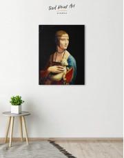 Lady with an Ermine by Leonardo da Vinci Canvas Wall Art