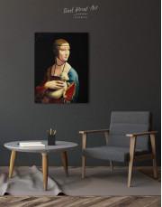 Lady with an Ermine by Leonardo da Vinci Canvas Wall Art - Image 3