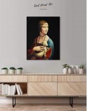 Lady with an Ermine by Leonardo da Vinci Canvas Wall Art - Image 1
