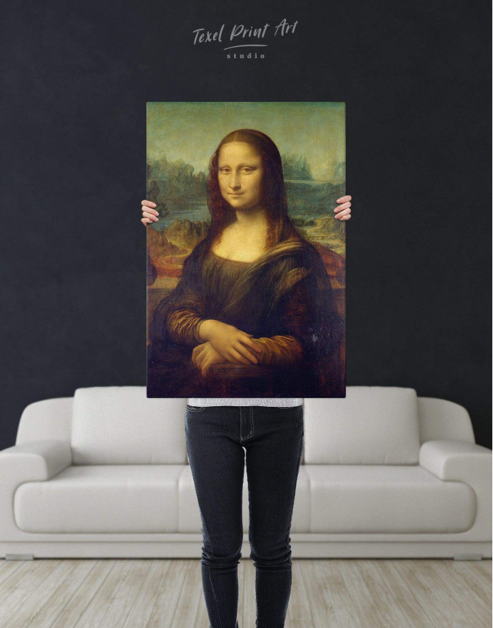 Mona Lisa by Leonardo da Vinci Canvas Wall Art - Image 3