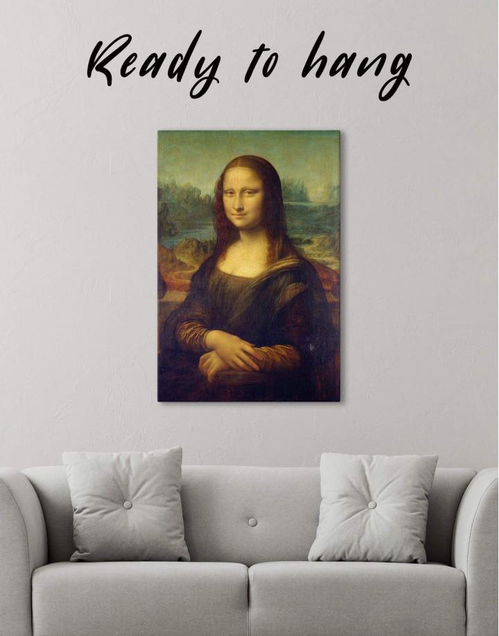 Mona Lisa by Leonardo da Vinci Canvas Wall Art - Image 1