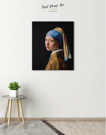 Girl with a Pearl Earring Canvas Wall Art - image 4