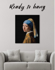 Girl with a Pearl Earring by Johannes Vermeer Canvas Wall Art