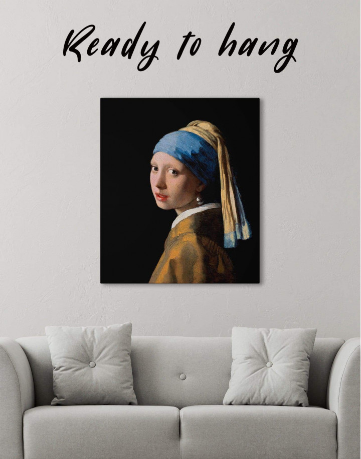 Girl with a Pearl Earring by Johannes Vermeer Canvas Wall Art - Image 0