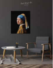 Girl with a Pearl Earring by Johannes Vermeer Canvas Wall Art - Image 2