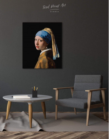 Girl with a Pearl Earring Canvas Wall Art - image 3