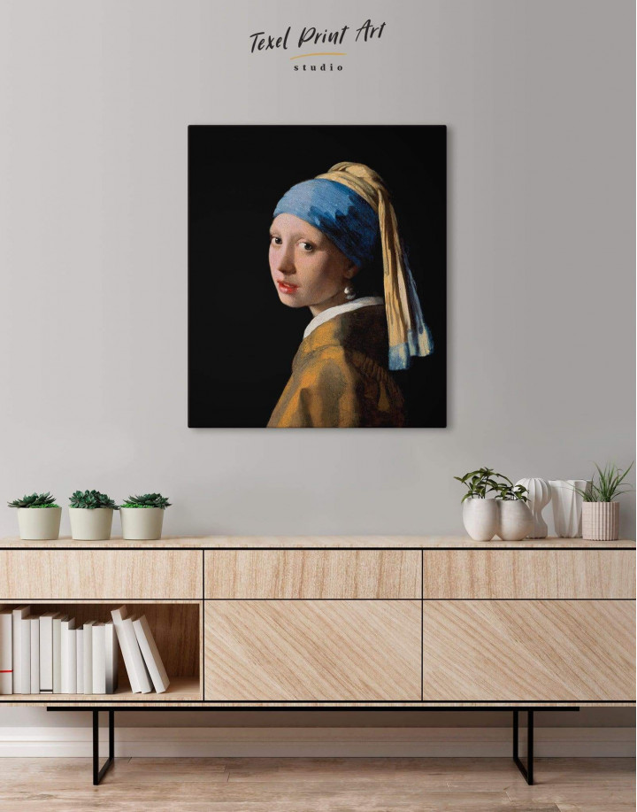 Girl with a Pearl Earring by Johannes Vermeer Canvas Wall Art - Image 4