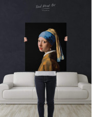 Girl with a Pearl Earring by Johannes Vermeer Canvas Wall Art - Image 3