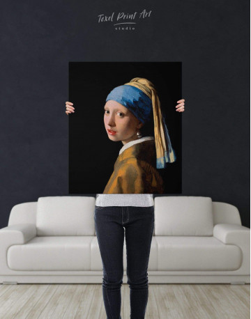 Girl with a Pearl Earring Canvas Wall Art - image 2