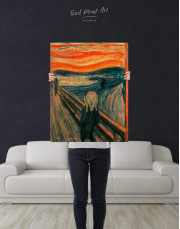 The Scream by Edvard Munch Canvas Wall Art - Image 3