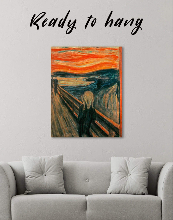 The Scream by Edvard Munch Canvas Wall Art - Image 1