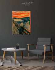 The Scream by Edvard Munch Canvas Wall Art - Image 2
