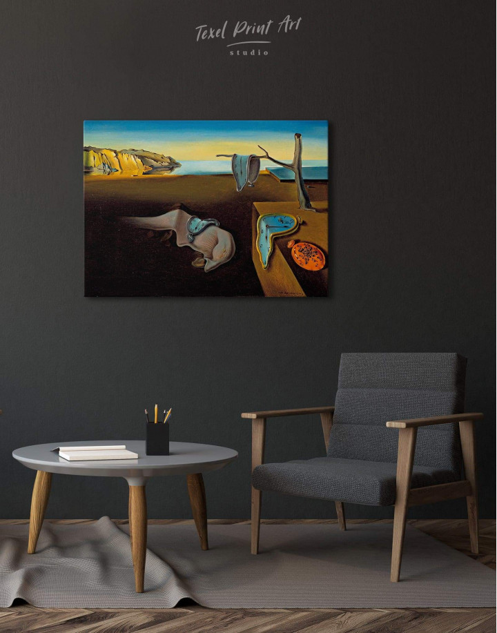 The Persistence of Memory by Salvador Dali Canvas Wall Art - Image 1
