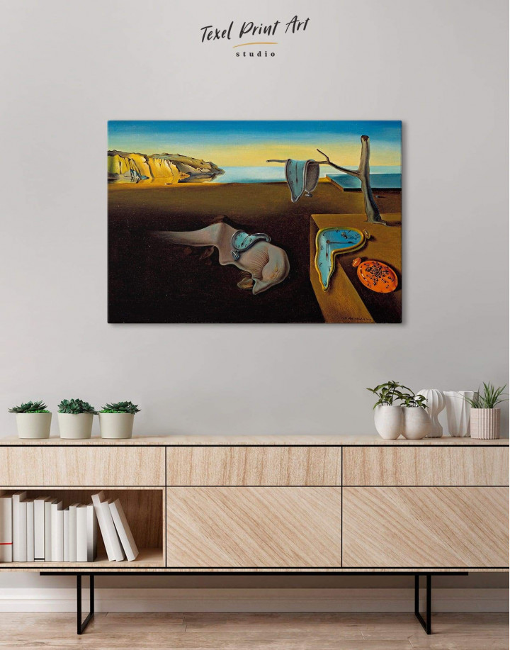 The Persistence of Memory by Salvador Dali Canvas Wall Art - Image 4