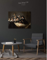 The Anatomy Lesson of Dr. Nicolaes Tulp Rembrandt Canvas Wall Art - Image 4