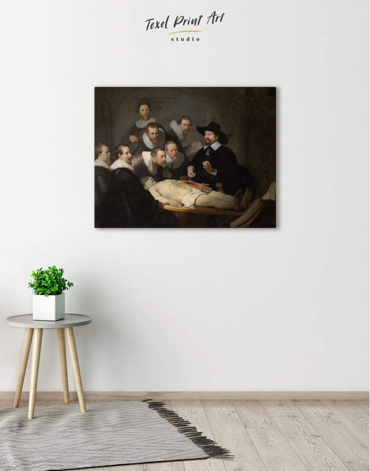 The Anatomy Lesson of Dr. Nicolaes Tulp Rembrandt Canvas Wall Art - Image 3