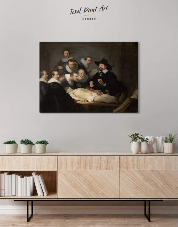The Anatomy Lesson of Dr. Nicolaes Tulp Canvas Wall Art