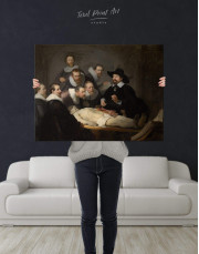 The Anatomy Lesson of Dr. Nicolaes Tulp Rembrandt Canvas Wall Art - Image 2