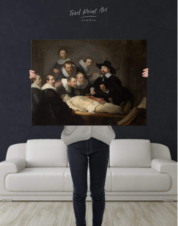 The Anatomy Lesson of Dr. Nicolaes Tulp Canvas Wall Art - image 3