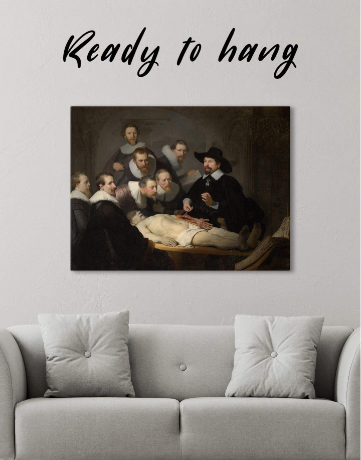 The Anatomy Lesson of Dr. Nicolaes Tulp Rembrandt Canvas Wall Art - Image 1