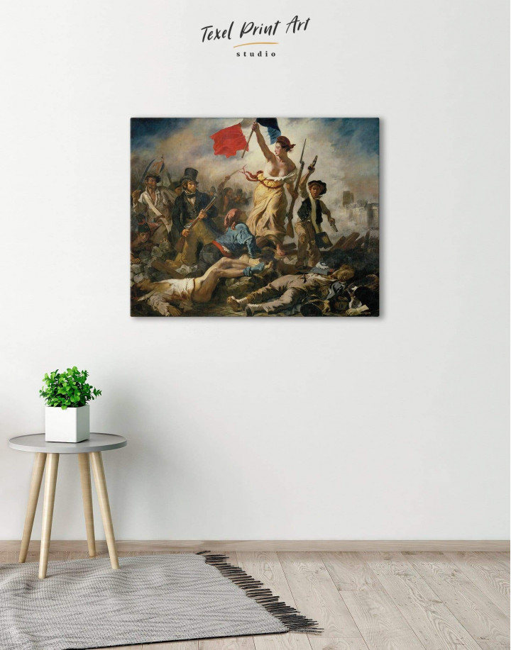 Liberty Leading the People by Eugène Delacroix Canvas Wall Art - Image 0