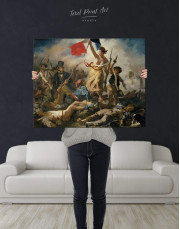 Liberty Leading the People by Eugène Delacroix Canvas Wall Art - Image 2
