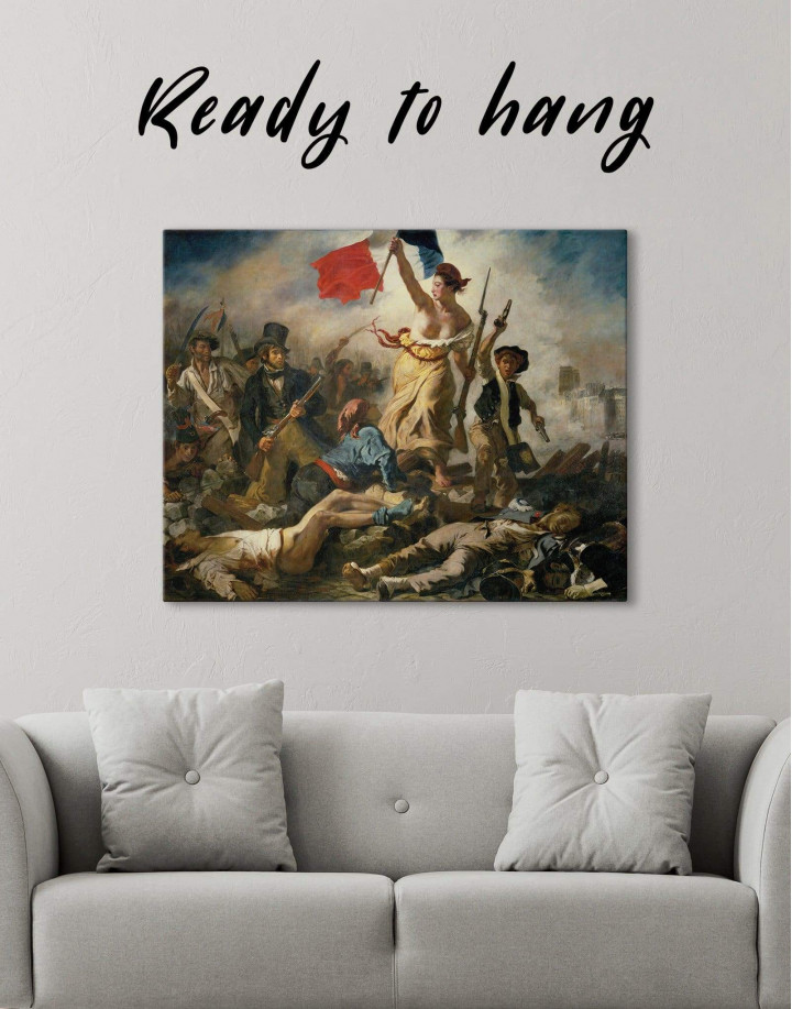 Liberty Leading the People by Eugène Delacroix Canvas Wall Art - Image 1