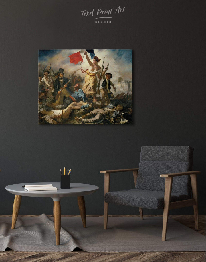 Liberty Leading the People by Eugène Delacroix Canvas Wall Art - Image 4