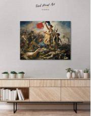 Liberty Leading the People by Eugène Delacroix Canvas Wall Art - Image 3