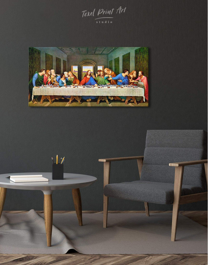 The Last Supper by Leonardo da Vinci Canvas Wall Art - Image 2