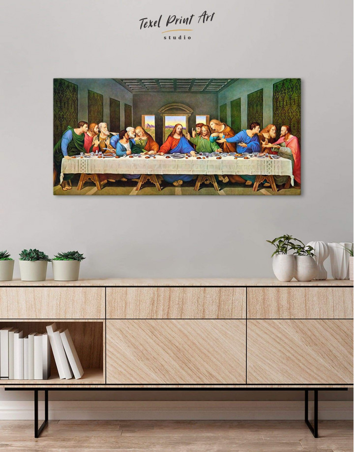 The Last Supper by Leonardo da Vinci Canvas Wall Art - Image 3