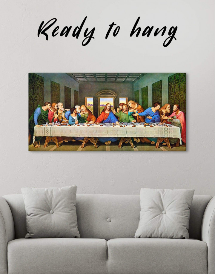 The Last Supper by Leonardo da Vinci Canvas Wall Art - Image 0