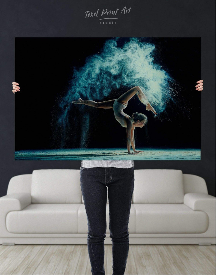 Gymnastics Girl Canvas Wall Art - Image 4
