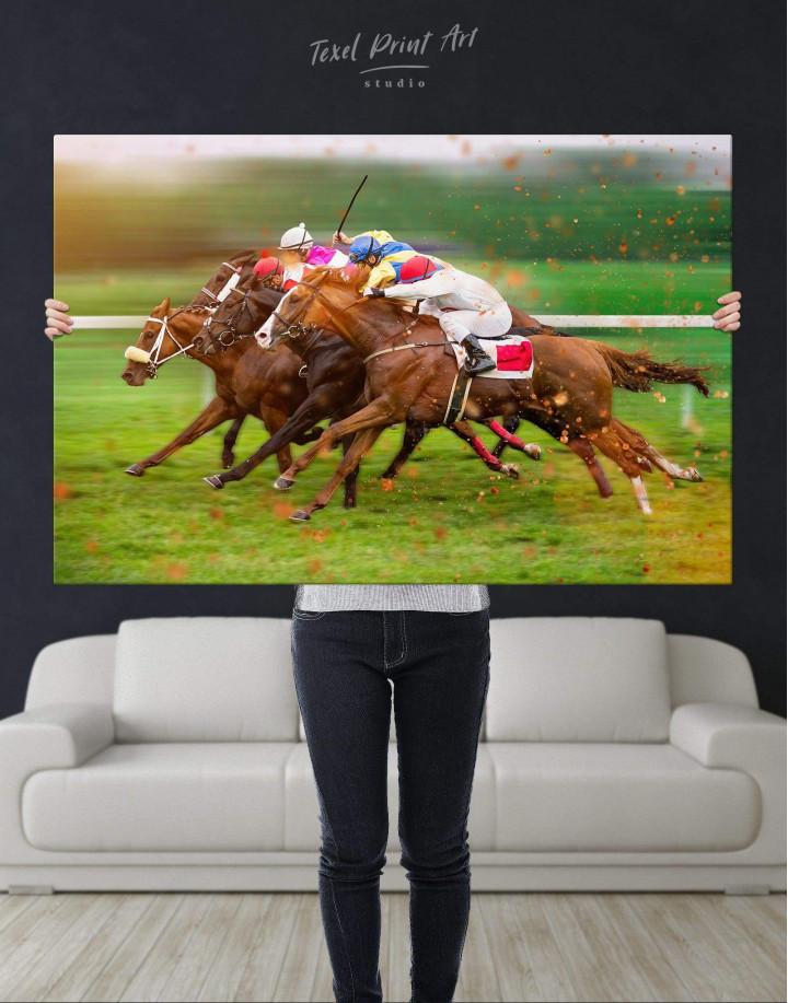 Speedy Horse Racing Canvas Wall Art - Image 2