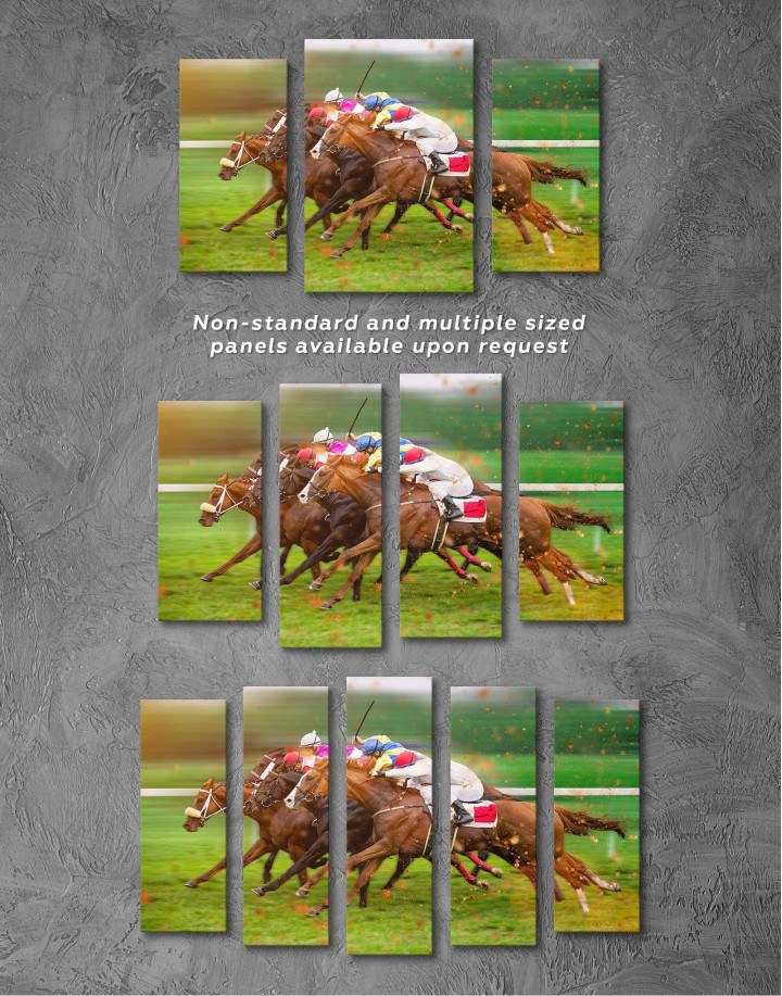 Speedy Horse Racing Canvas Wall Art - Image 4