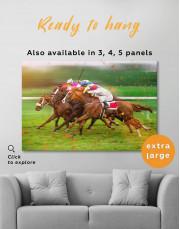 Speedy Horse Racing Canvas Wall Art