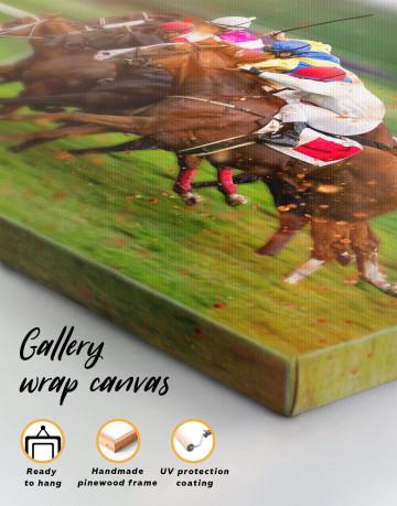 Speedy Horse Racing Canvas Wall Art - image 1