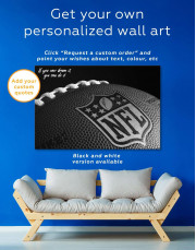 NFL Rugby Ball Canvas Wall Art - Image 5
