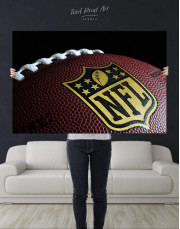NFL Rugby Ball Canvas Wall Art - Image 2