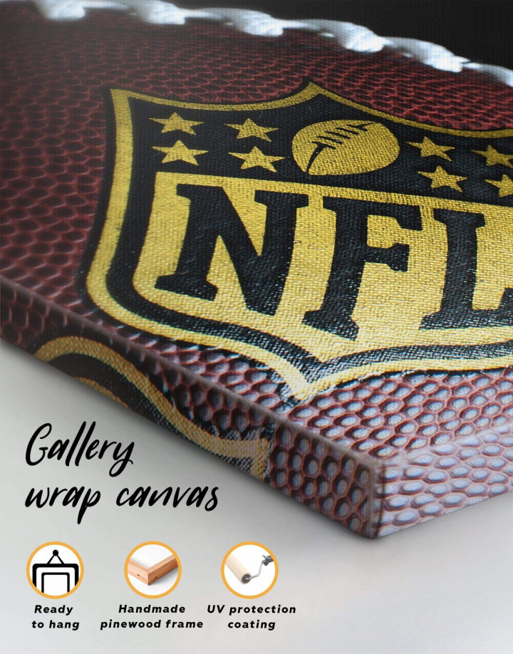 NFL Rugby Ball Canvas Wall Art - Image 1
