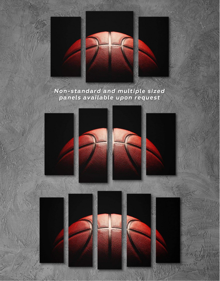 Basketball Ball Canvas Wall Art - Image 2